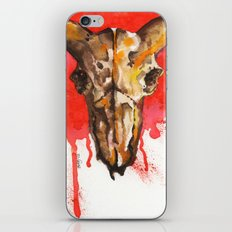 red moon skull iPhone Skin