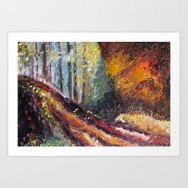 Hocking Hills Art Print
