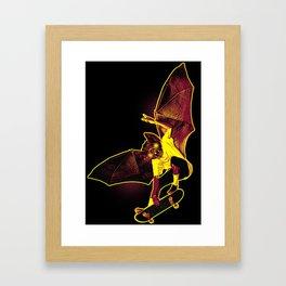 Skate Bat Framed Art Print