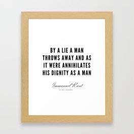 46 |  Immanuel Kant Quotes | 190810 Framed Art Print
