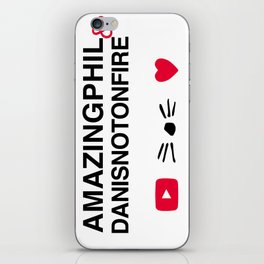 Amazingphil and danisnotonfire iPhone Skin