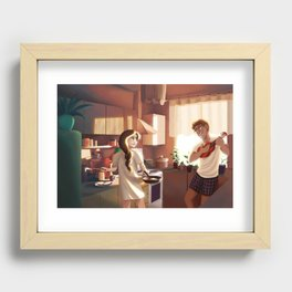 How Do You Like Your Eggs in The Morning? Recessed Framed Print