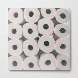 Toilet paper rolls background texture Metal Print