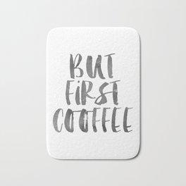But First Coffee Printable Art, Inspirational Wall Art Decor, But First Coffee Sign, Coffee Quote Pr Bath Mat
