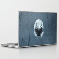 magneto Laptop & iPad Skins featuring Magneto helmet only by Tony Vazquez