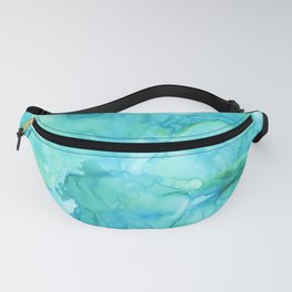 Turquoise Fluidity Fanny Pack