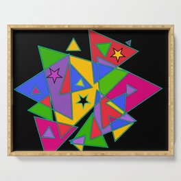Triangles colourful Serving Tray