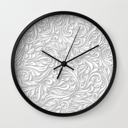 Floral White Wall Clock