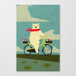 Yeti Taking a Ride Canvas Print
