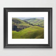 Diablo Hills Framed Art Print