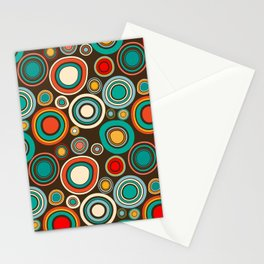 Vintage abstract seamless pattern with round shapes Stationery Cards