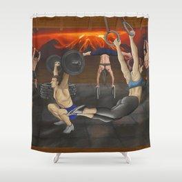 Samurai Crossfit Shower Curtain