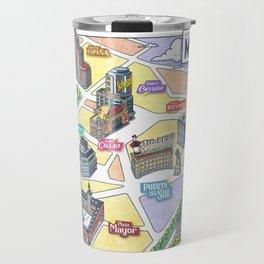 MADRID CITY by Javier Arrés. Madrid Map Illustration. Travel Mug