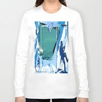 climbing Long Sleeve T-shirts featuring Ice Climbing by Robin Curtiss