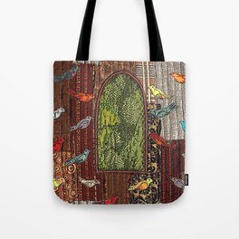 In the birdhouse Tote Bag