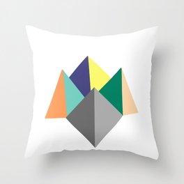 Paku Paku, original colours on white Throw Pillow