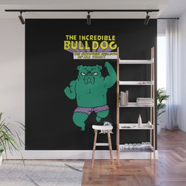 The Incredible English Bulldog Wall Mural