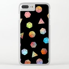 Platonic solids II Clear iPhone Case