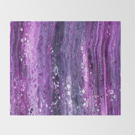 Under The Purple Sea Throw Blanket