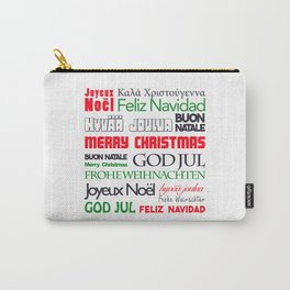 merry christmas in different languages II Carry-All Pouch