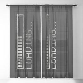Loading Time Bar Sheer Curtain