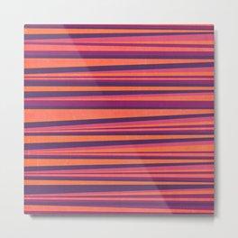 Happy Horizontal Lines Pink Version Metal Print