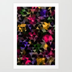Shatter into color Art Print