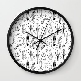 Accoutrements - white Wall Clock