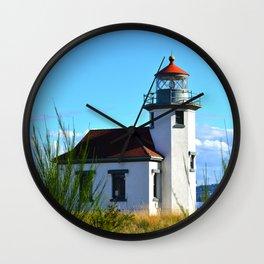 Lighthouse - Point Robinson - Vashon Island, WA Wall Clock