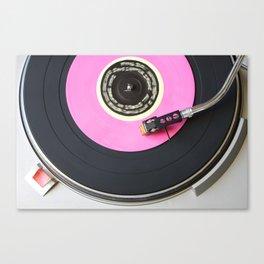 Pink Vinyl Record Canvas Print