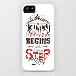 lettring quote journey iPhone Case