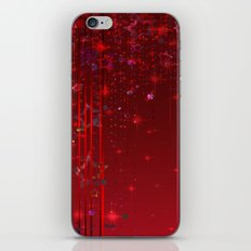 Red rain. Christmas . iPhone & iPod Skin