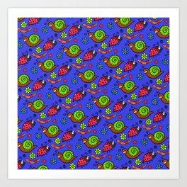 Cartoon Garden Bugs Art Print