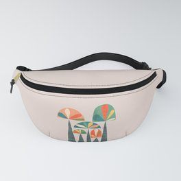 Quirky retro palm trees Fanny Pack