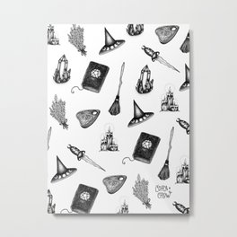 Witchy Pattern - coracrow Metal Print
