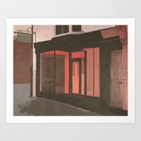 subway Art Prints featuring Subway by Janet Wareing