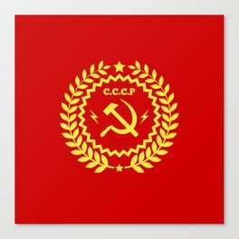 Communist Hammer & Sickle CCCP Badge Design Canvas Print