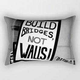 Bridges not Walls Rectangular Pillow