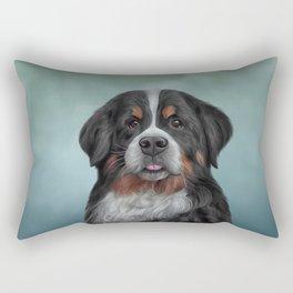 Drawing Bernese Mountain Dog 6 Rectangular Pillow