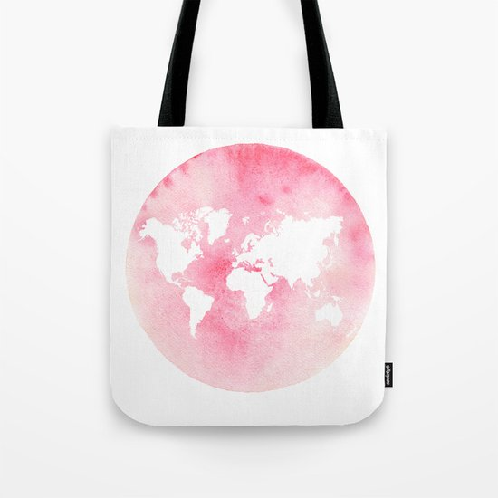 Pink world map by tintjune