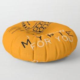 I Threw My Pie for You - Orange is the New Black Floor Pillow