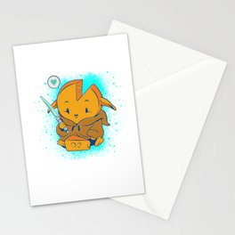Baby Cheese with Light Saber Stationery Cards
