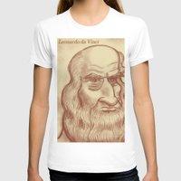 da vinci T-shirts featuring Leonardo da Vinci by Roberto Núñez