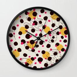 Dots + leaves Wall Clock