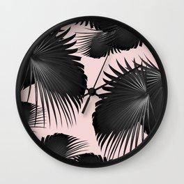 Fan Palm Leaves Paradise #2 #tropical #decor #art #society6 Wall Clock