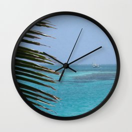 Left Palm Right Sail  Wall Clock