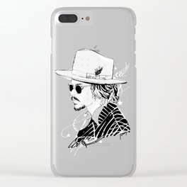 Johnny Depp with sun-glasses Clear iPhone Case