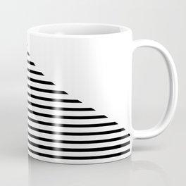Triangle with White & Black Stripes Coffee Mug