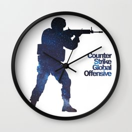 Space Army - Counter Strike Wall Clock