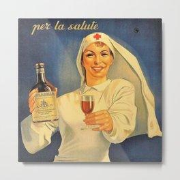 1918 Extremely Rare Amaro Aperitif Gino Boccasile Isolabella Vintage Advertising Food & Wine Poster Metal Print